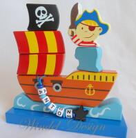 Steckspiel Schiff Ahoi kleiner Pirat