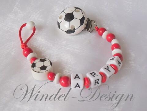 Schnullerkette Fußball