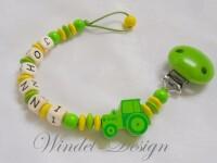 Schnullerkette Traktor im Johnni Design
